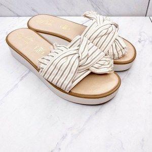 Seychelles Coast Bow Slides Sandals Shoes Size 7.5
